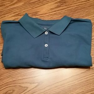 LLBEAN relaxed fit polo, L, blue